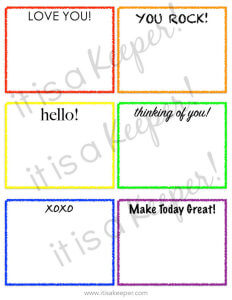 Grab these FREE printable lunch box notes