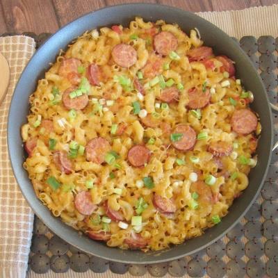 Spicy Sausage Pasta Skillet
