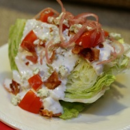 Wedge Salad with Bacon and Bleu Cheese - F