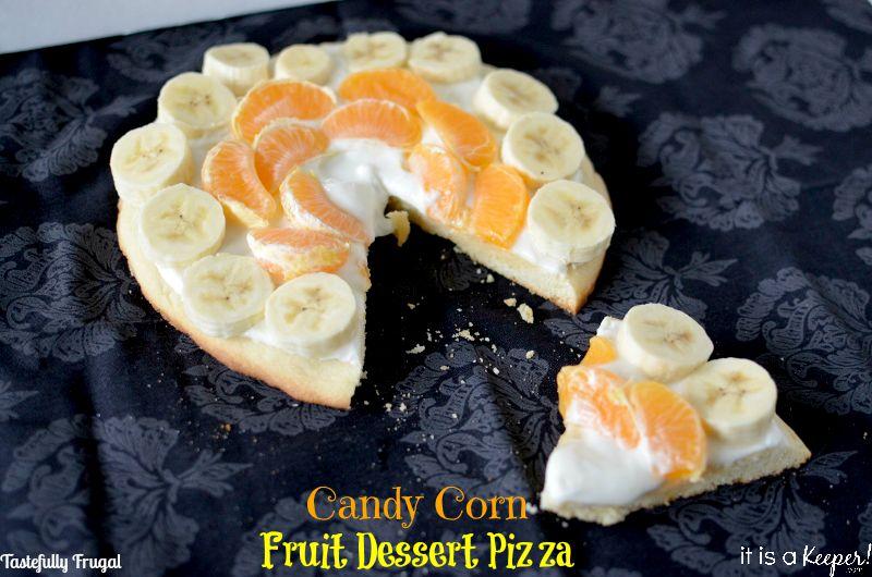 Candy Corn Fruit Dessert Pizza www.itisakeeper.com