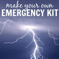 Be prepared for the next store with this easy DIY Emergency Kit