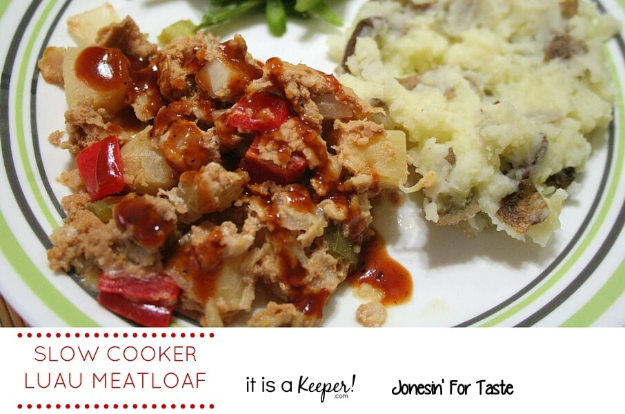 This Slow Cooker Luau Meatloaf is a new take on classic meatloaf. It's one of the best easy crock pot recipes.