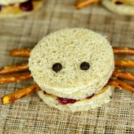 These easy spider sandwiches are a fun Halloween snack or treat idea