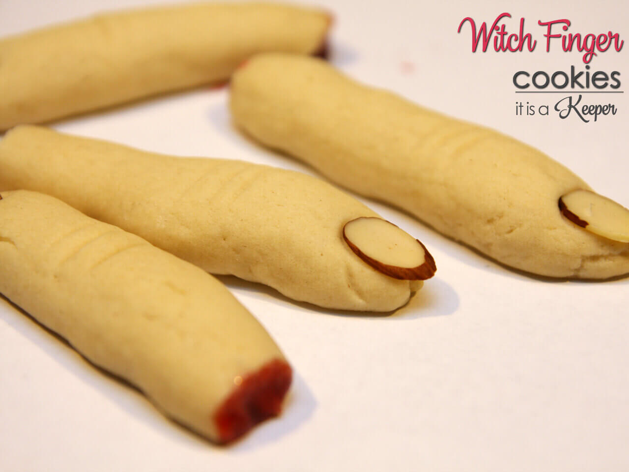 Witch Finger Cookies - these creepy cookies are easy to make and look just like real fingers