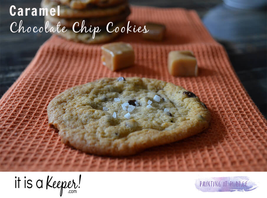 Caramel Chocolate Chip Cookies – an easy and delicious cookie recipe