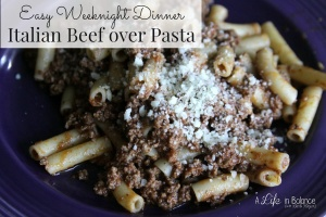 Easy-Weeknight-Dinner-Italian-Beef-over-Pasta