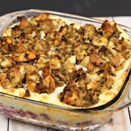 Leftover Thanksgiving Casserole – an easy and delicious dinner recipe that's ready in 30 minutes and makes a great frozen meal