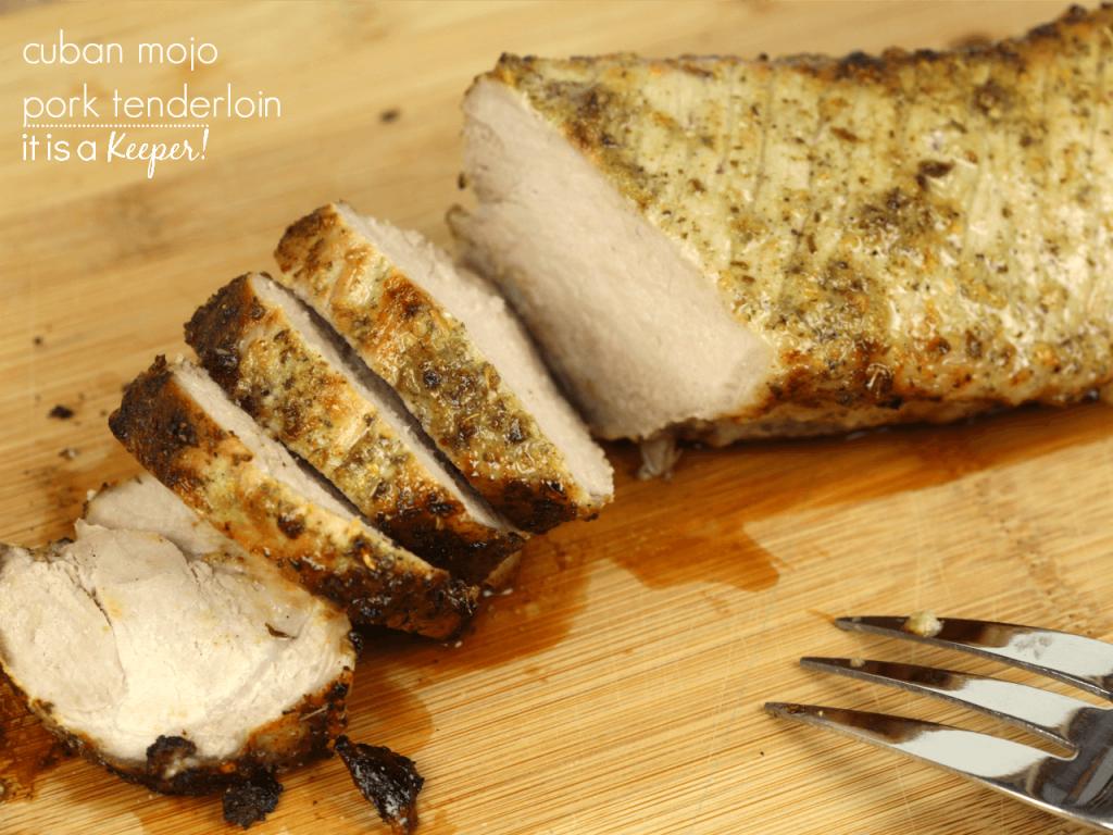 Cuban Mojo Pork Tenderloin – an easy dinner recipe that is bursting with flavor