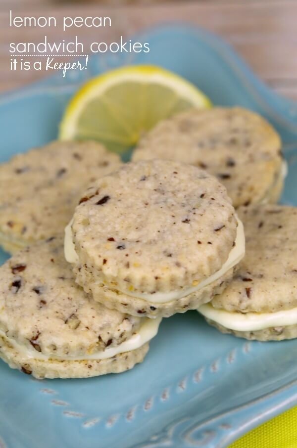 Lemon Pecan Sandwich Cookies – a delicious lemon infused cookie recipe