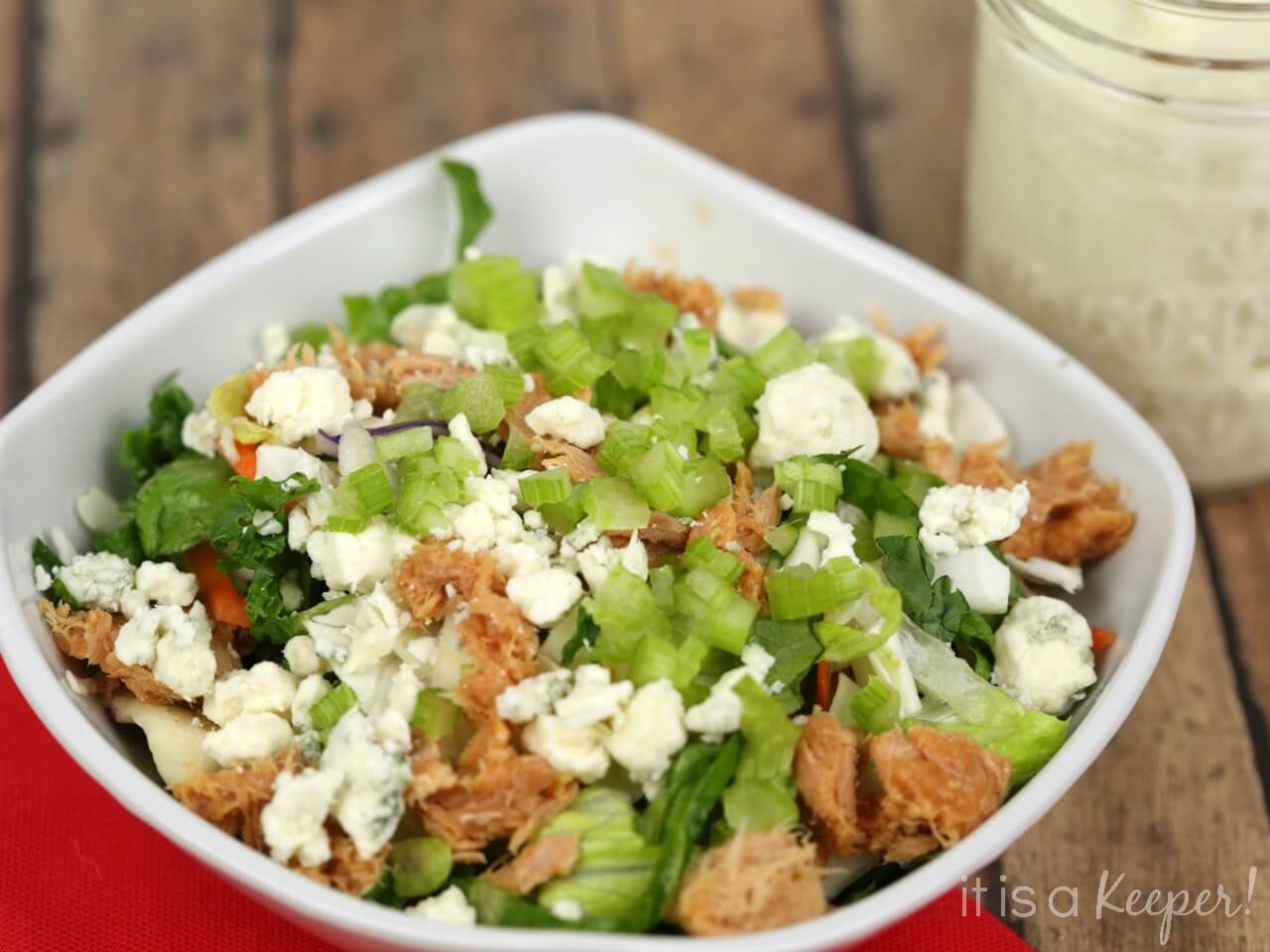 Buffalo Tuna Chopped Salad – an easy and delicious salad recipe that's ready in under 10 minutes