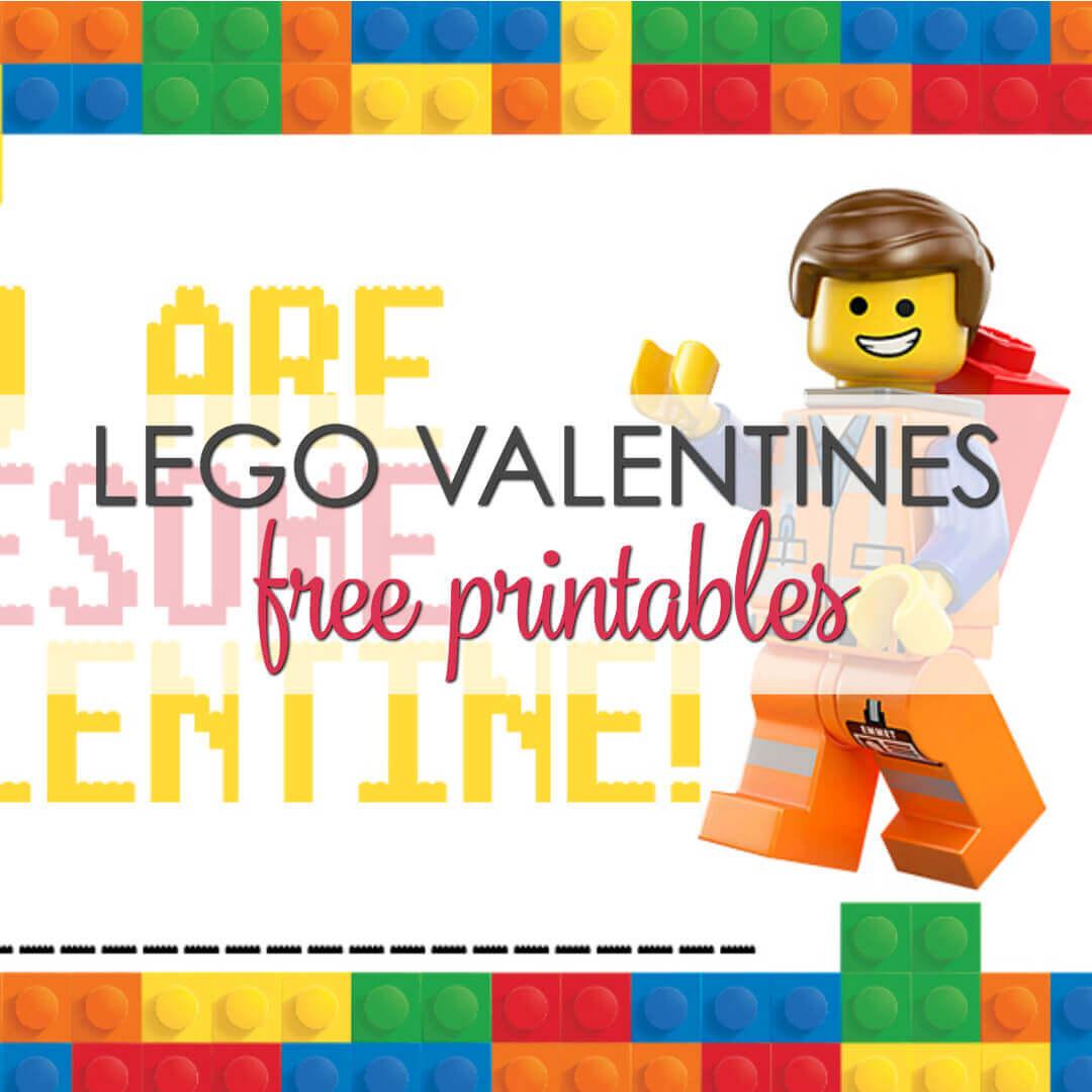 Lego Valentine Printable