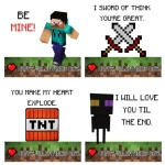 Minecraft Valentine Cards Printable