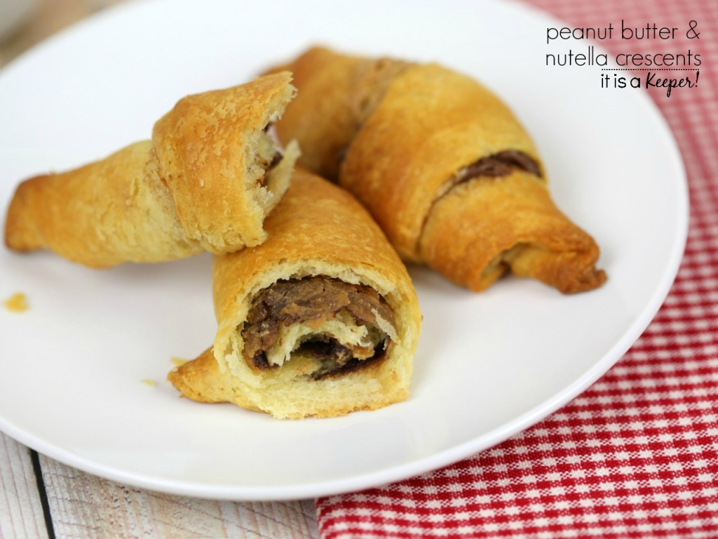 Peanut Butter Nutella Crescents - this is an easy snack recipe that kids love