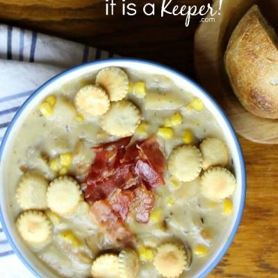 Slow Cooker Potato and Corn Chowder