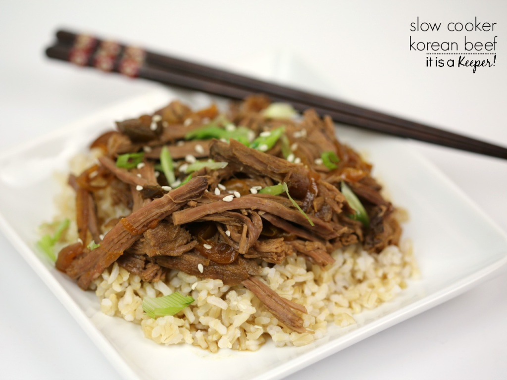 This Korean Beef is one of the best easy crock pot recipes that is perfect for busy nights. It's one of the best slow cooker recipes of all time.