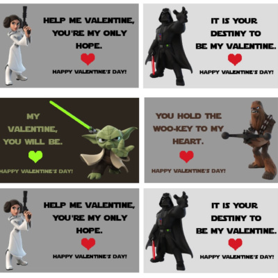Star Wars Valentine Cards Printable