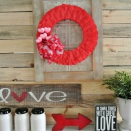 This Valentine wreath is a quick and easy DIY project you can make in under an hour.
