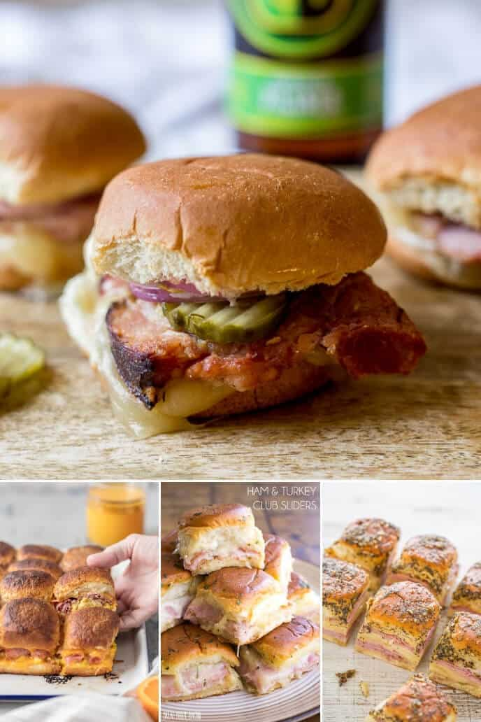 Collection of leftover ham sliders