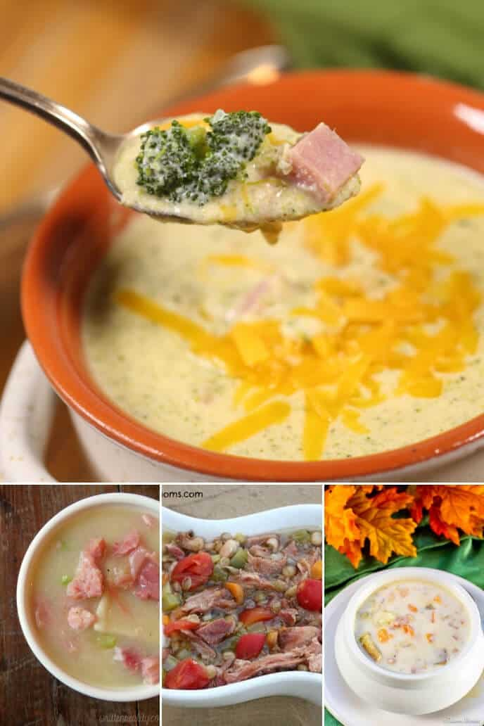 Collection of leftover ham soup recipe
