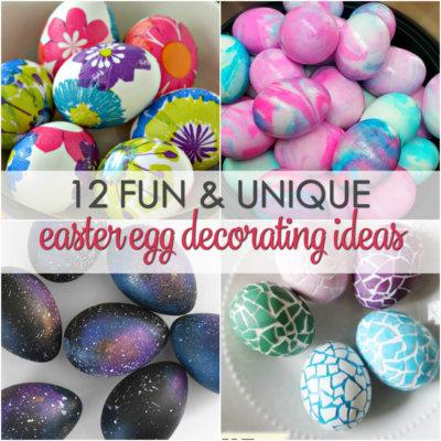 12 Easter Egg Decorating Ideas