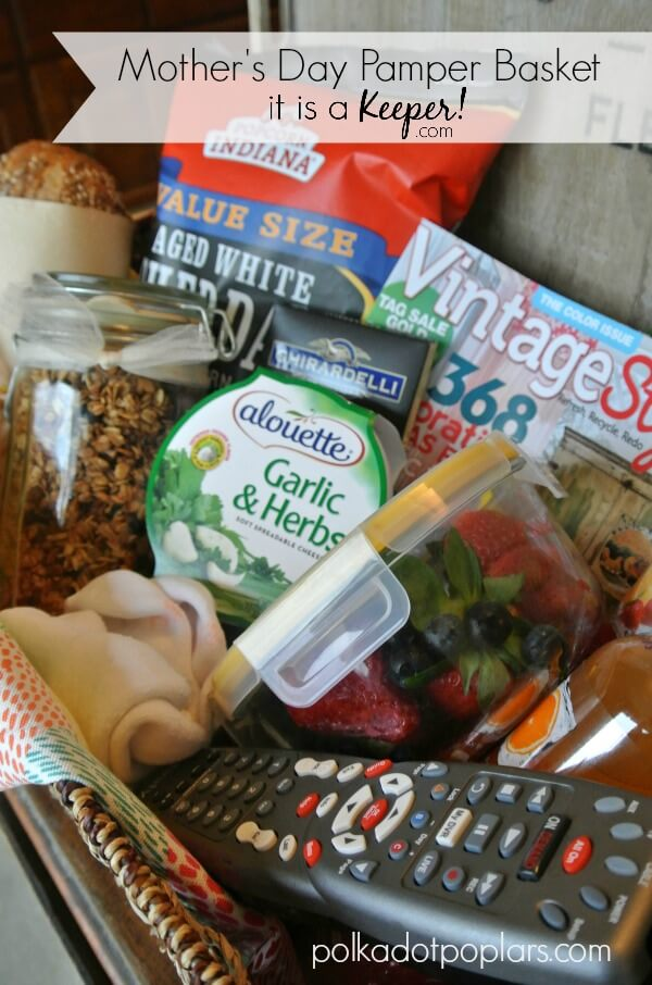 This Mother's Day Basket is the perfect homemade gift