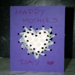 Ribbon Laced Mother's Day Card