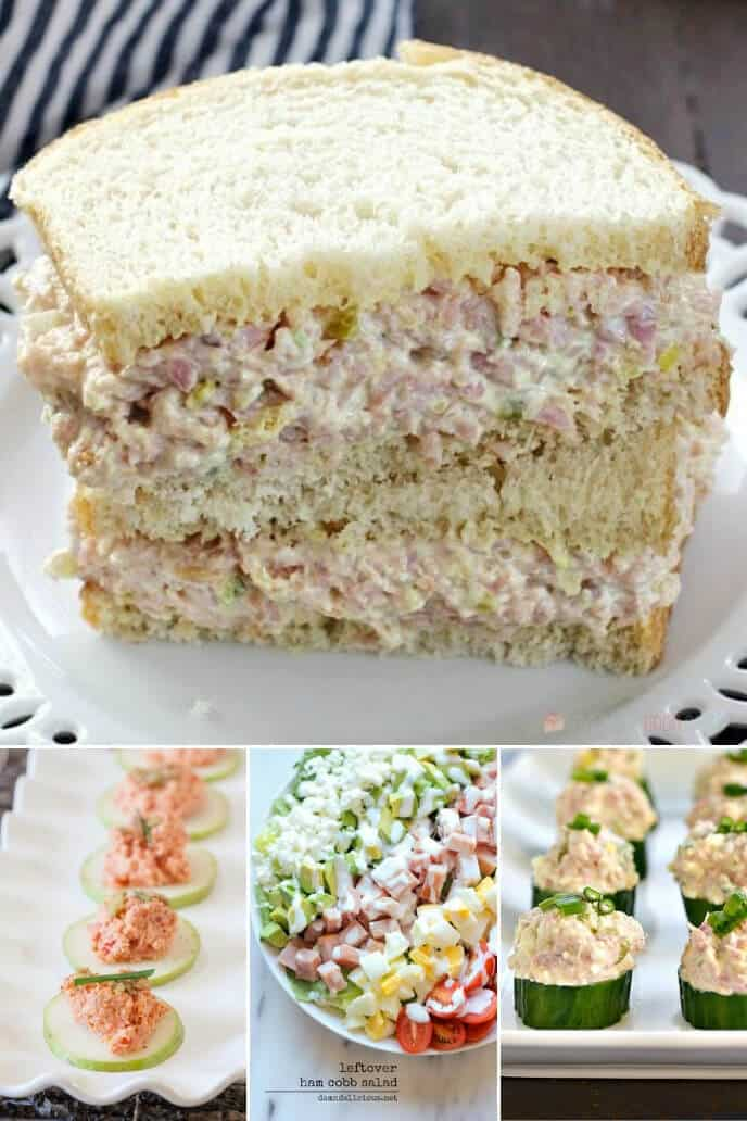 collection of leftover ham salad recipes