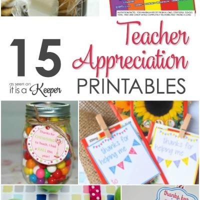 15 Adorable Teacher Thank You Printables