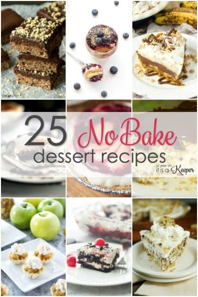 25 No Bake Dessert Recipes