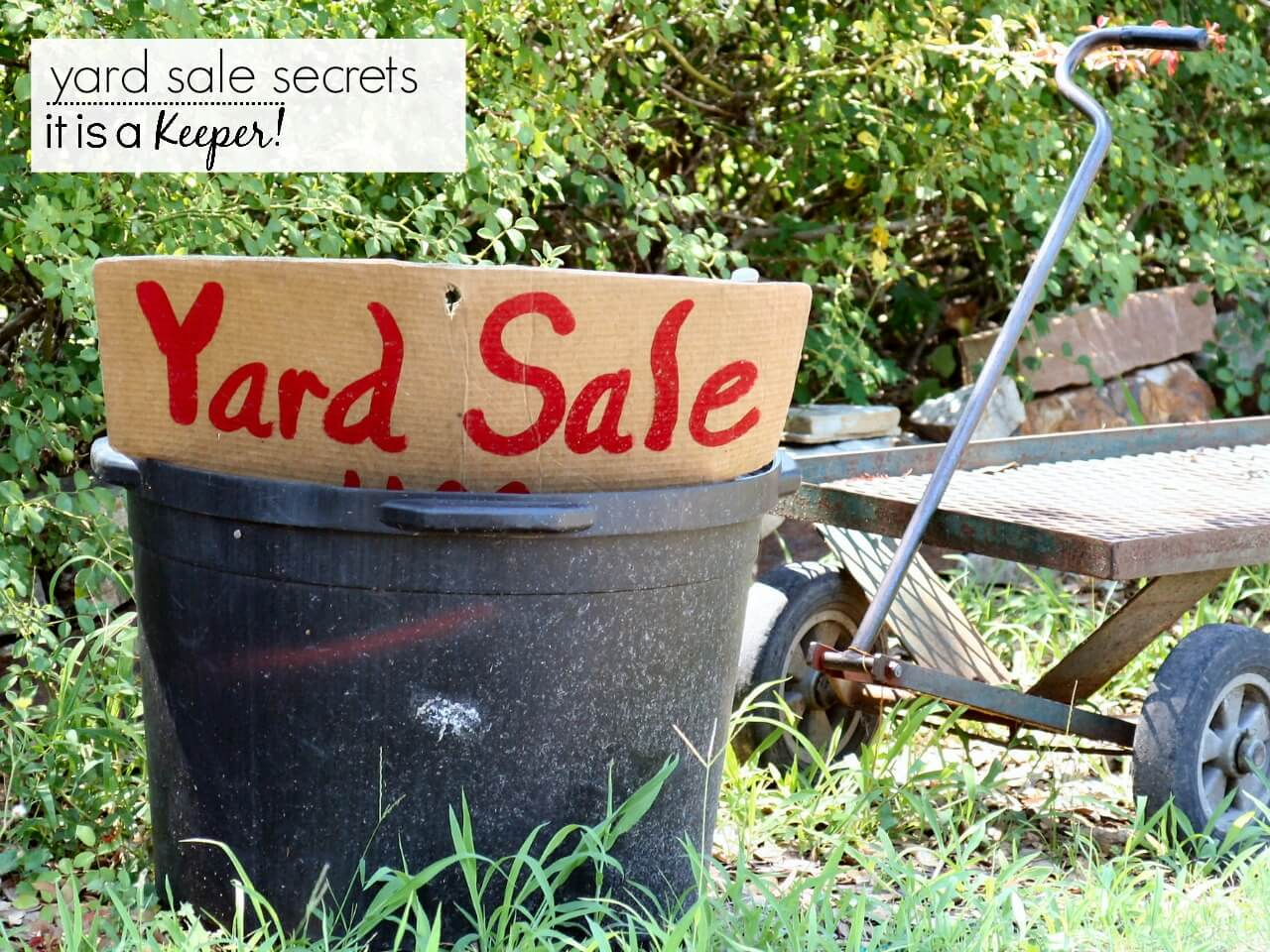 Tips and secrets for holding a great yard or garage sale