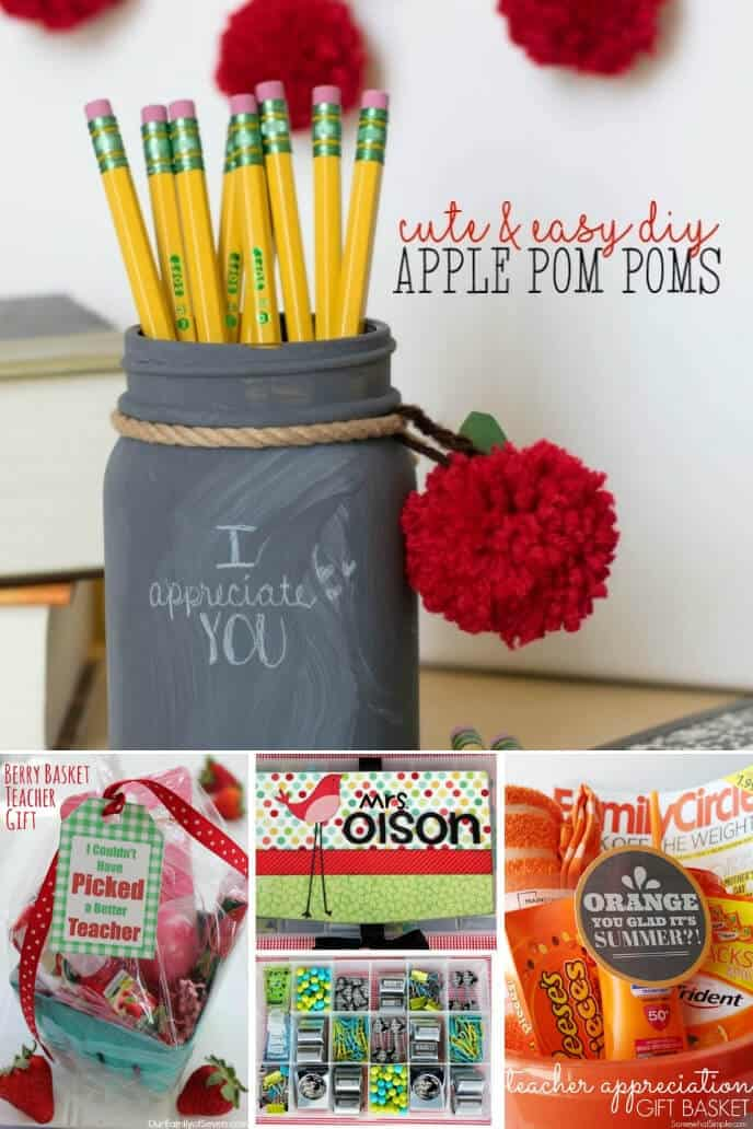 A collection of DIY teacher gift idea