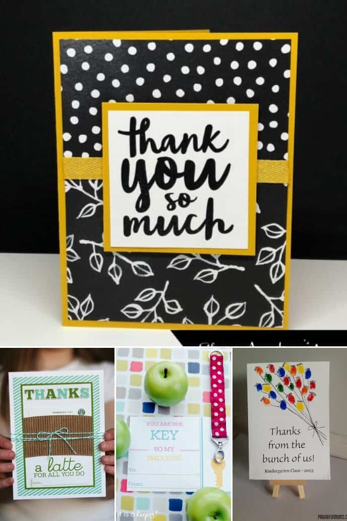 A collection of ideas for handmade cards teachers appreciation day