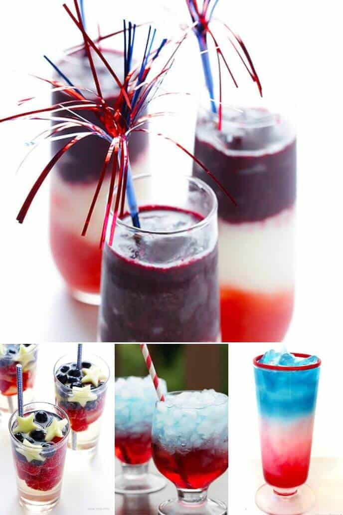 Collection of 4th of July Recipes for Drinks