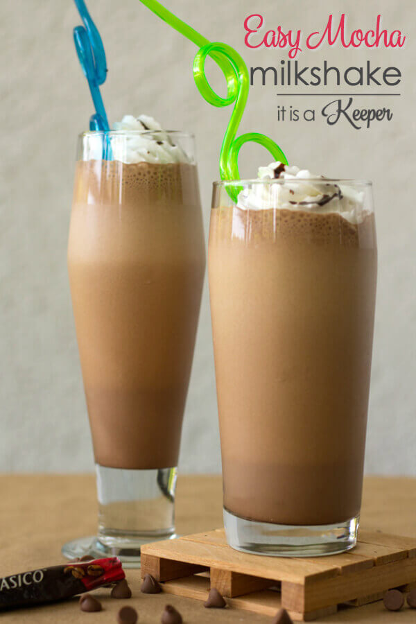 Mocha Milkshake - This easy milkshake recipe combines coffee and chocolate for the perfect treat