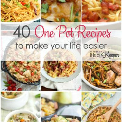 40 One Pot Recipes