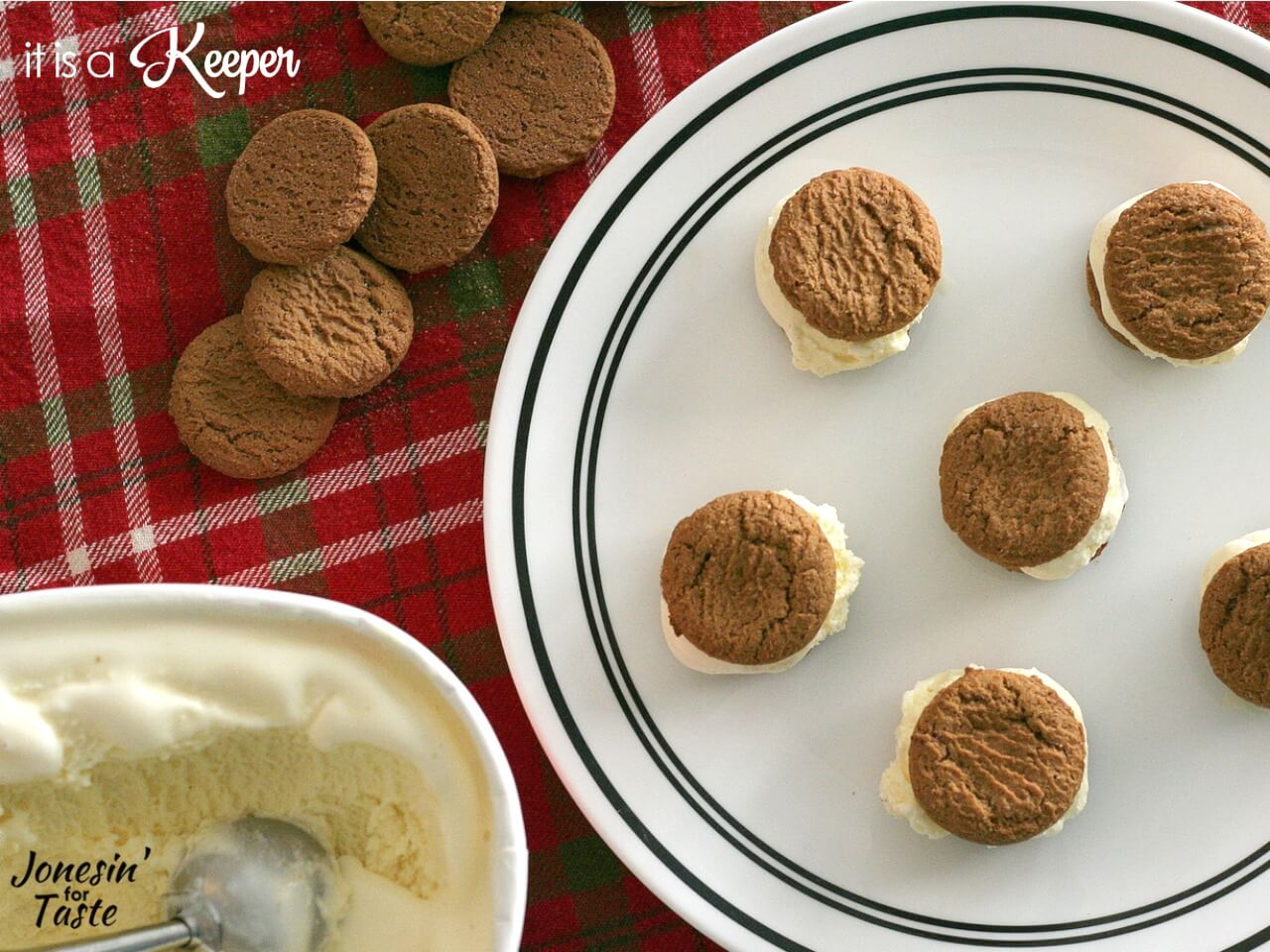 Gingersnap and Eggnog Ice Cream Sandwiches | It Is a Keeper