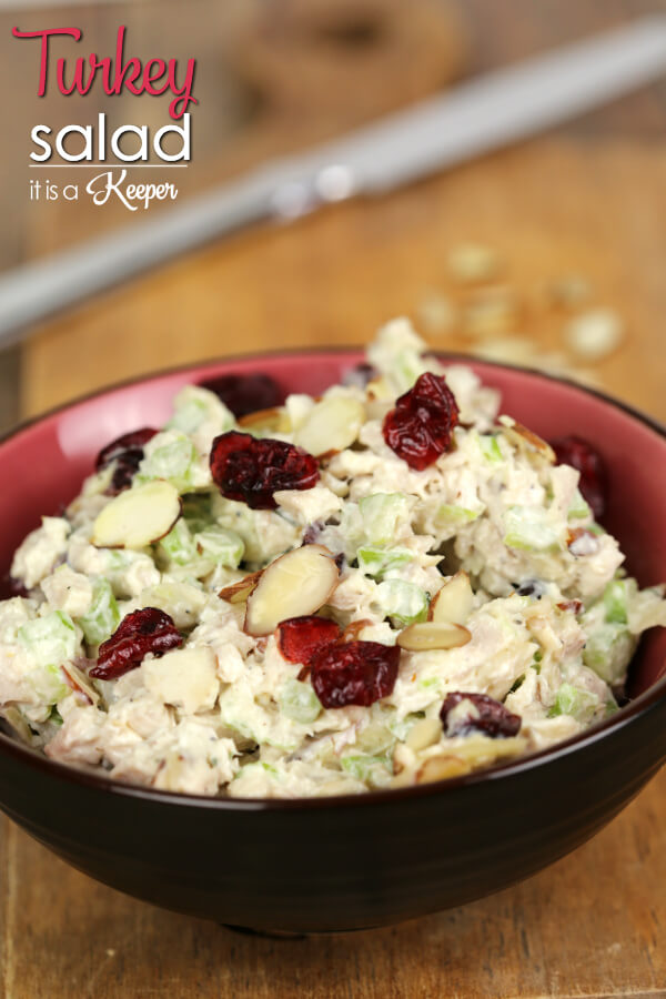 Turkey Salad - this easy recipe is a great way to use Thanksgiving leftovers
