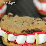 Vampire Teeth Cookies