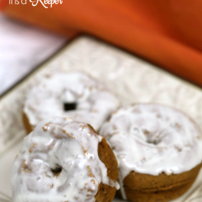 Pumpkin Donuts with Salted Caramel Glaze