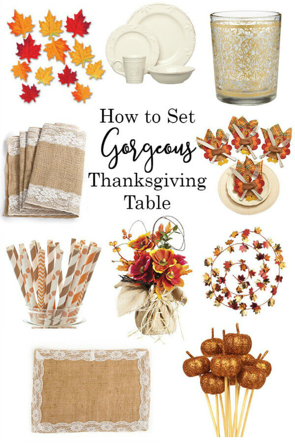 How to set a gorgeous Thanksgiving Table