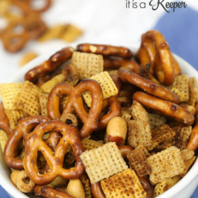 Slow Cooker Party Snack Mix