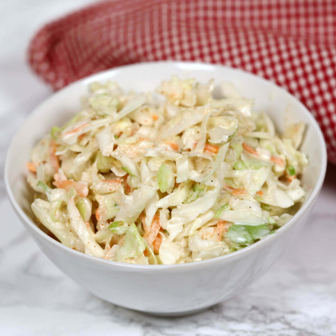 Chipotle Slaw - this easy coleslaw recipe is a little sweet, a little spicy and very creamy
