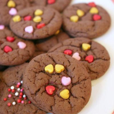 Valentine Cake Mix Cookies