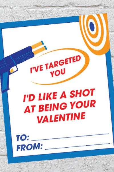 Nerf Valentine Cards Printable