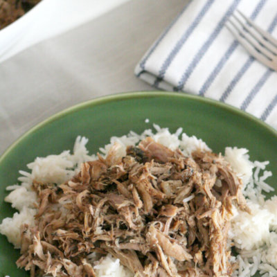 Slow Cooker Garlic Balsamic Pork Roast