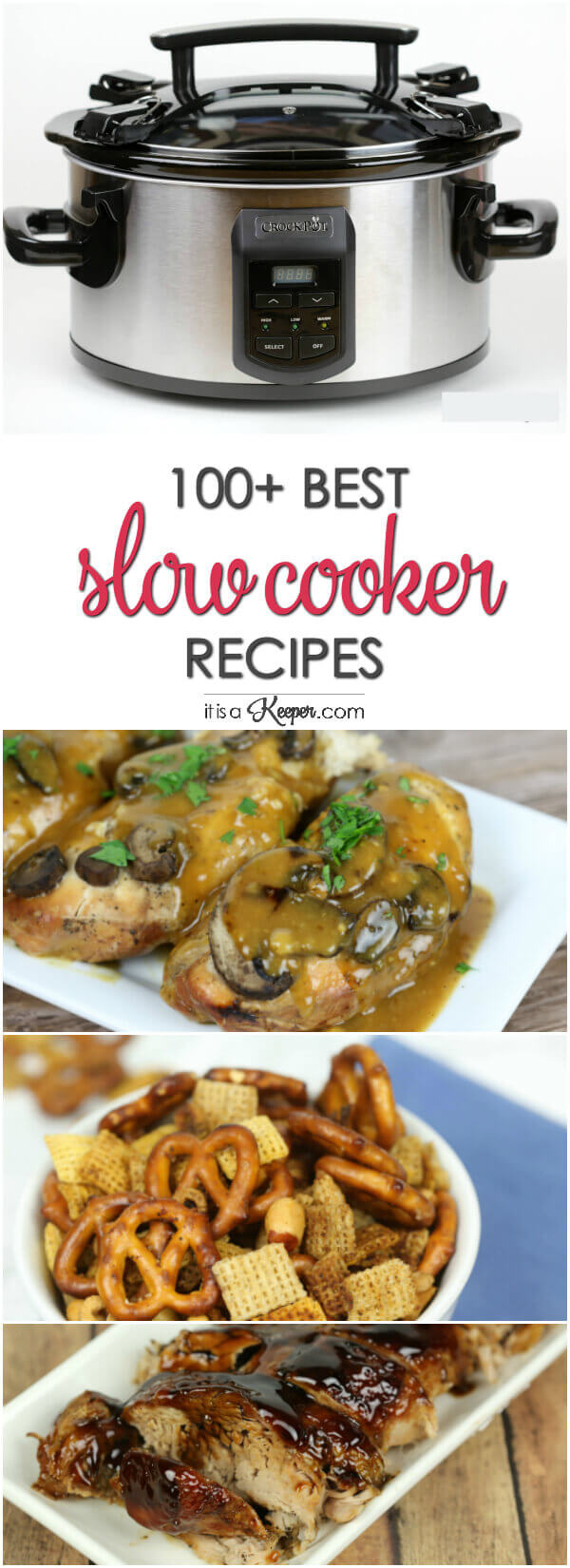 100+ Best Slow Cooker Recipes of all time - including crock pot recipes for chicken, pork, beef, desserts, side dishes and more
