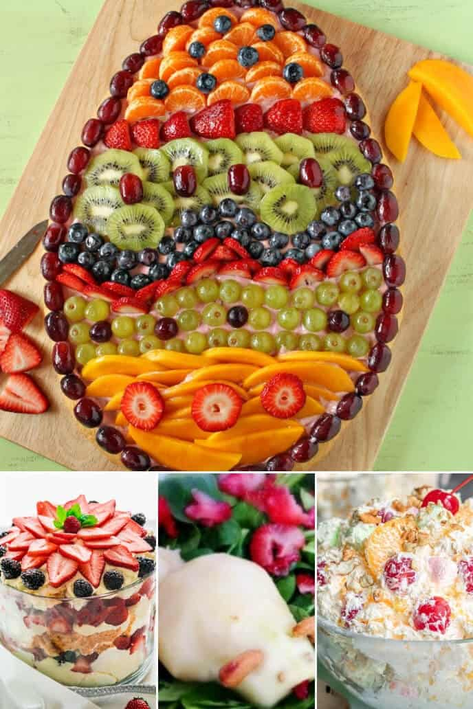 a collection of easter brunch ideas with fruit