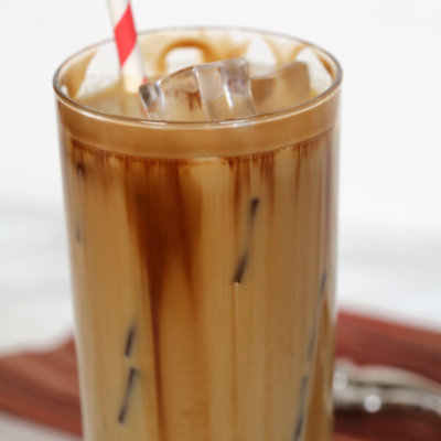 Chocolate Salted Caramel Iced Coffee