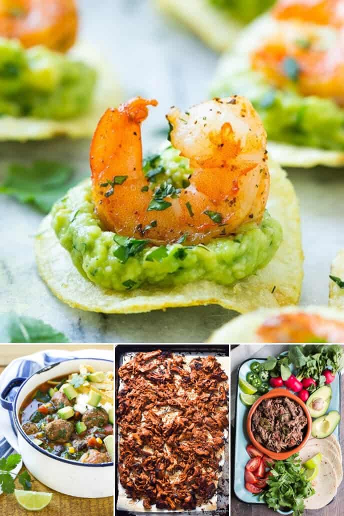 Collection of traditional mexican dishes