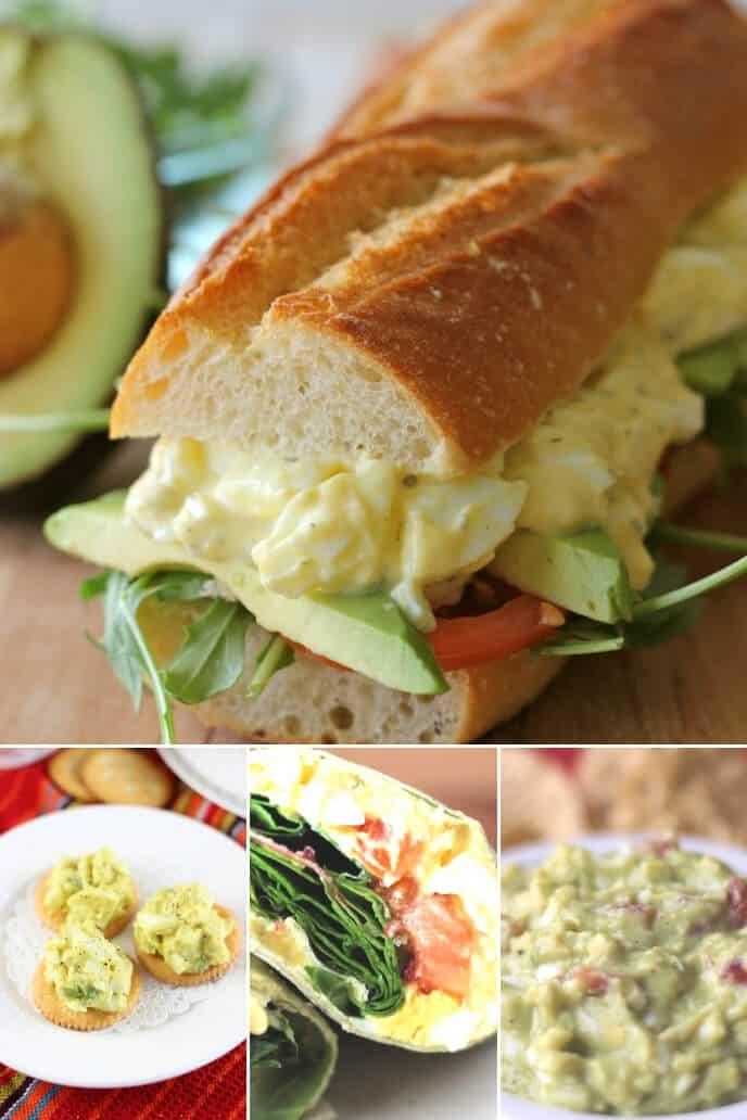 A collection of egg salad keto recipes